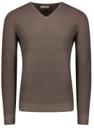 Thomas Maine pullover bruin wol