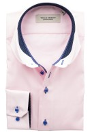Thomas Regency Overhemd Roze Effen Slim fit