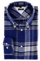 Tommy Hilfiger overhemd Relaxed Fit blauwe ruit
