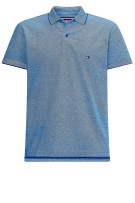 Tommy Hilfiger polo blauw gemêleerd Big & Tall