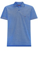 Tommy Hilfiger Polo Shirt Blauw Gemêleerd Normale fit