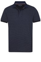 Tommy Hilfiger Polo Shirt Donkerblauw Print Slim fit