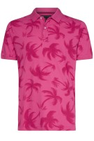 Tommy Hilfiger Polo Shirt Roze Print Slim fit