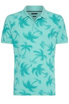 Tommy Hilfiger Polo Shirt Turquoise Print Slim fit