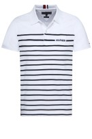 Tommy Hilfiger Polo Shirt Wit Gestreept Slim fit