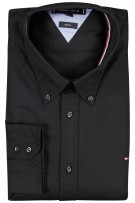 Tommy Hilfiger shirt zwart met logo Big & Tall