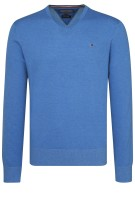 Tommy Hilfiger Trui Blauw Effen Normale fit