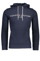 Tommy Hilfiger Trui Donkerblauw Effen Print Normale fit