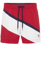 Tommy Hilfiger Zwemshort Rood Donkerblauw Wit Gestreept Normale fit