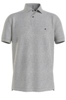 Tommy polo Big & Tall grijs melange