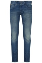 Vanguard 5-Pocket Broek Blauw Effen Slim fit