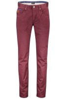 Vanguard 5-Pocket Broek Bordeaux Effen Slim fit
