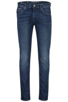 Vanguard 5-Pocket Broek Donkerblauw Effen Slim fit