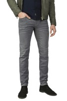 Vanguard 5-Pocket Broek Grijs Effen Slim fit
