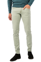 Vanguard 5-Pocket Broek Groen Effen Slanke fit