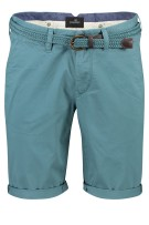 Vanguard chino shorts donker cyaan Effen Slim fit