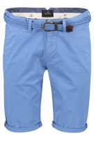 Vanguard chino shorts Lichtblauw Effen Slim fit