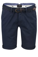 Vanguard chino shorts slim fit riem donkerblauw