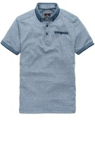 Vanguard polo blauw motief button down