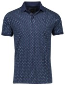 Vanguard polo navy groen print