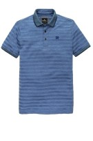 Vanguard Polo Shirt Donkerblauw Blauw Gestreept Normale fit