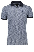 Vanguard Polo Shirt Donkerblauw Blauw Print Gemêleerd Normale fit