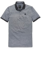 Vanguard Polo Shirt Donkerblauw Gestreept Structuur Normale fit