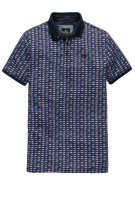 Vanguard Polo Shirt Donkerblauw Print Normale fit