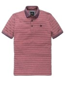 Vanguard Polo Shirt Rood Gestreept Normale fit