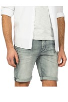 Vanguard Short Grijs Effen Normale fit