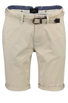 Vanguard slim fit chino shorts met riem beige