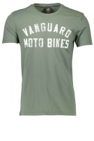 Vanguard T-shirt Groen Effen Normale fit