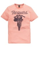 Vanguard T-shirt Roze Print Normale fit
