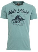 Vanguard T-shirt Turquoise Effen Print Normale fit