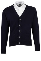 Vest William Lockie donkerblauw lamswol