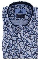 Vogelprint shirt blauw Culture ml 7 Modern Fit
