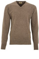 William Lockie pullover bruin v-hals