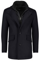 Winterjas Hugo Boss wol kasjmier mix navy