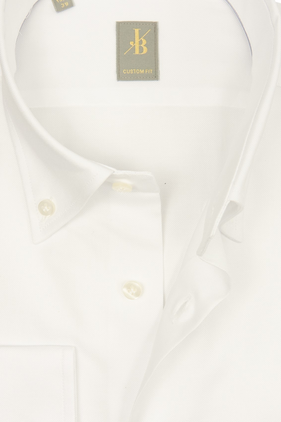 Overhemd Wit.Jacques Britt Overhemd Wit Oxford Button Down