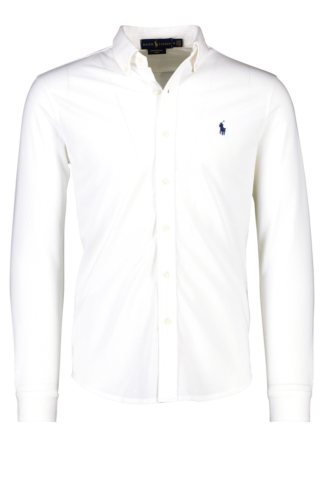 bee66eac1a86 Polo Ralph Lauren Overhemd Wit Effen Normale fit