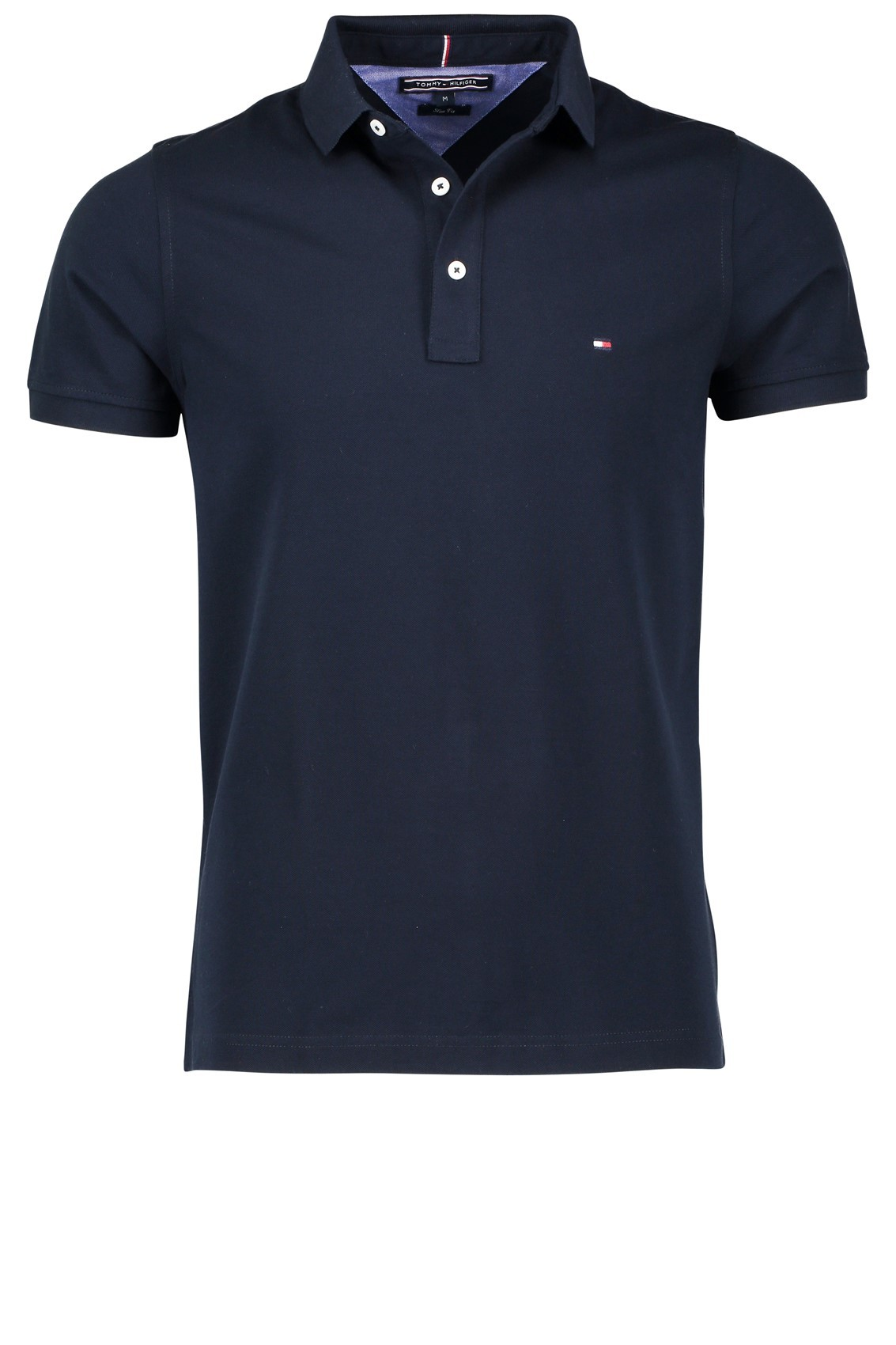 Poloshirt Tommy Hilfiger donkerblauw slim fit