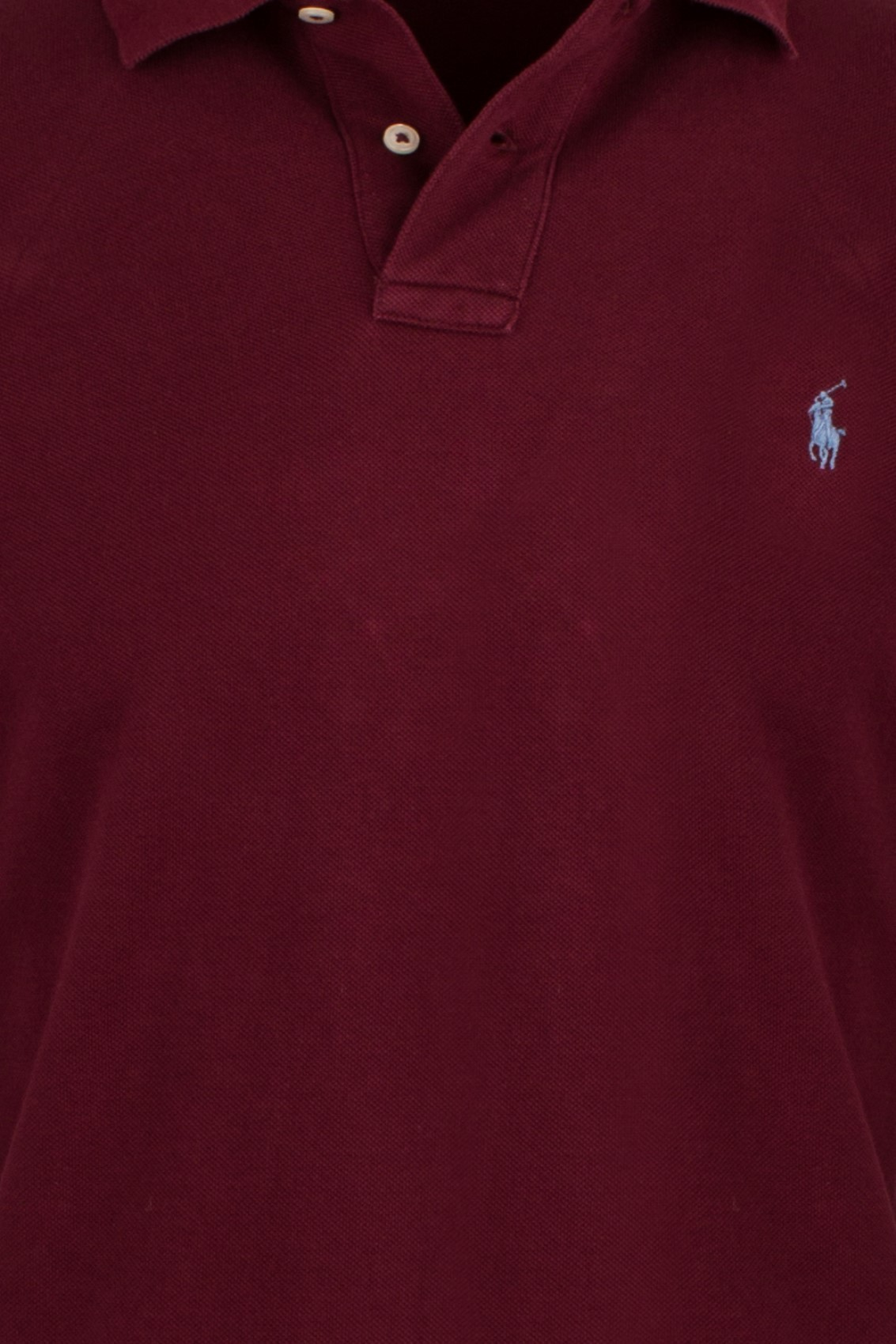 ac793f2b688f97 Ralph Lauren polo bordeaux custom slim fit