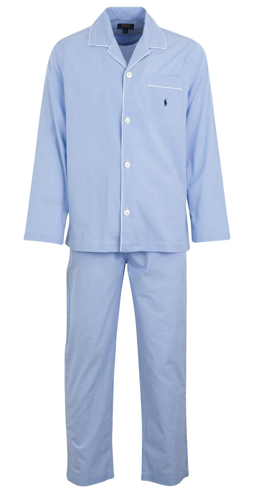 ralph lauren pyjama light blue gingham. Black Bedroom Furniture Sets. Home Design Ideas