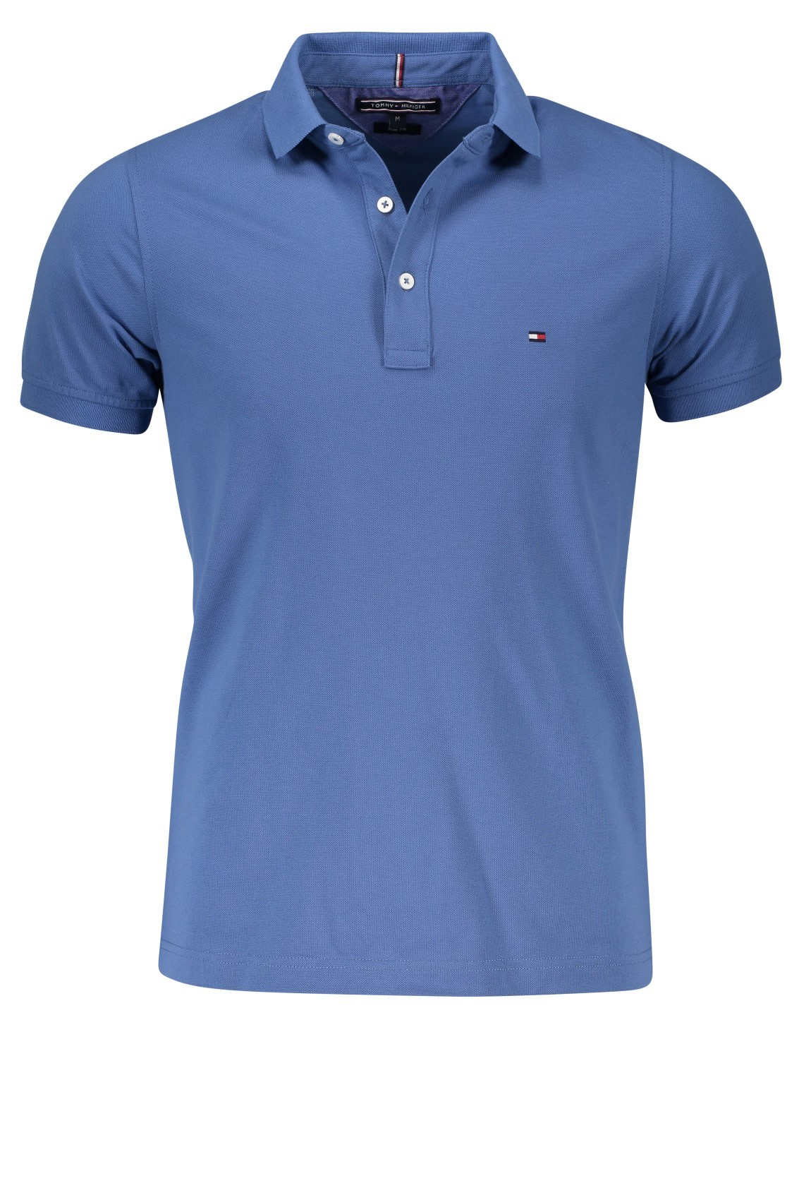 Slim fit Tommy Hilfiger polo shirt blauw met logo