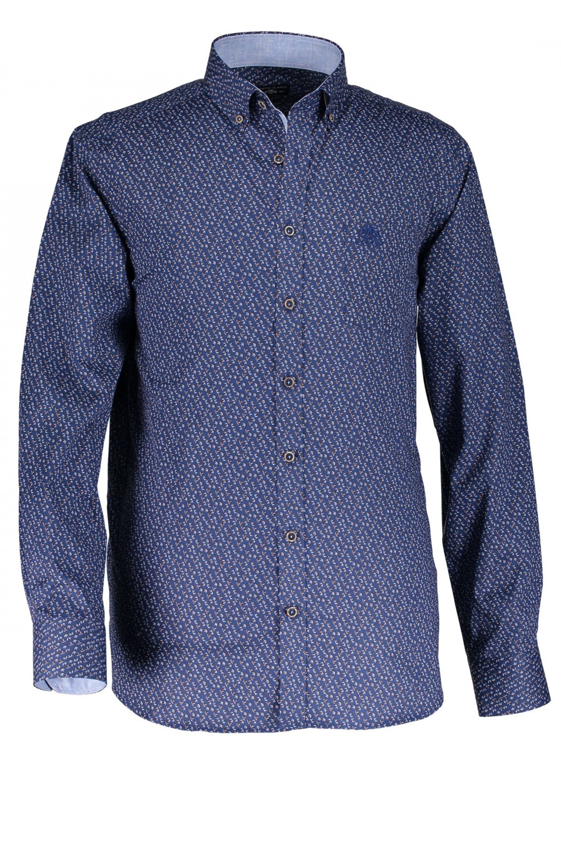 Casual Overhemd.State Of Art Casual Overhemd Print Cobalt