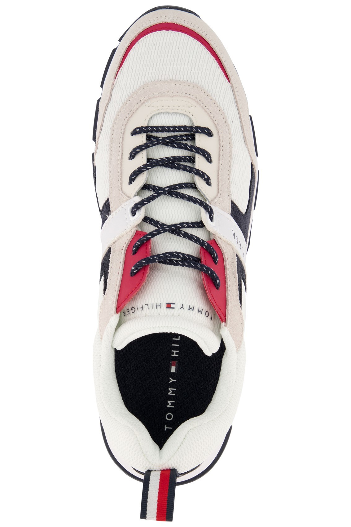 Tommy Hilfiger sneaker laag model navy rood wit