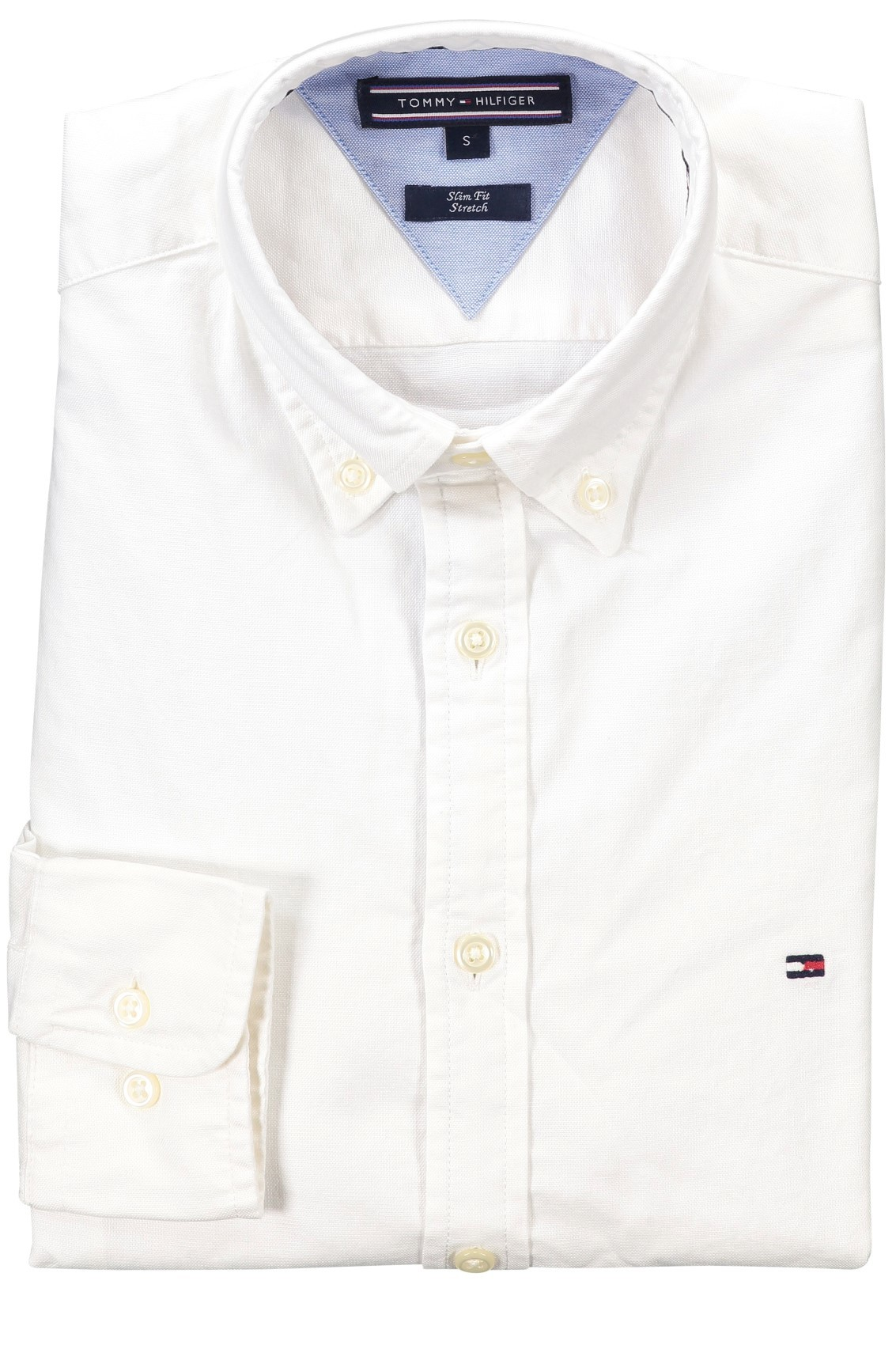 Tommy Hilfiger wit overhemd slim fit stretch